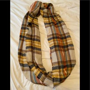 Plaid Colorful Infinity Blanket Scarf